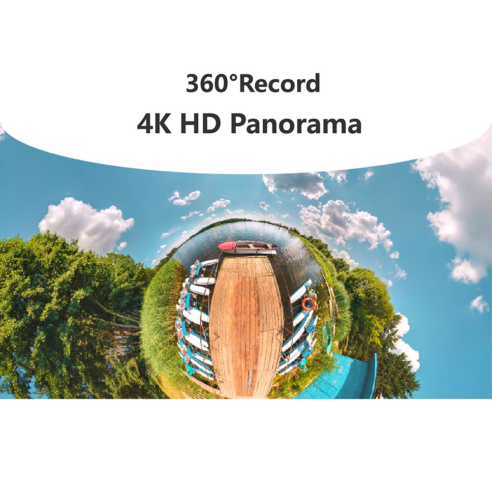 VRCam 4K 360 Degree Camera for iPhone 7/7plus/6/6plus/6s/6s plus VR 3D Panoramic Point and Shoot Video Cameras Dual Wide Angle Fisheye Lens 360 live on Facebook YouTube and Weibo-Space Gray by VRCam (Image #8)