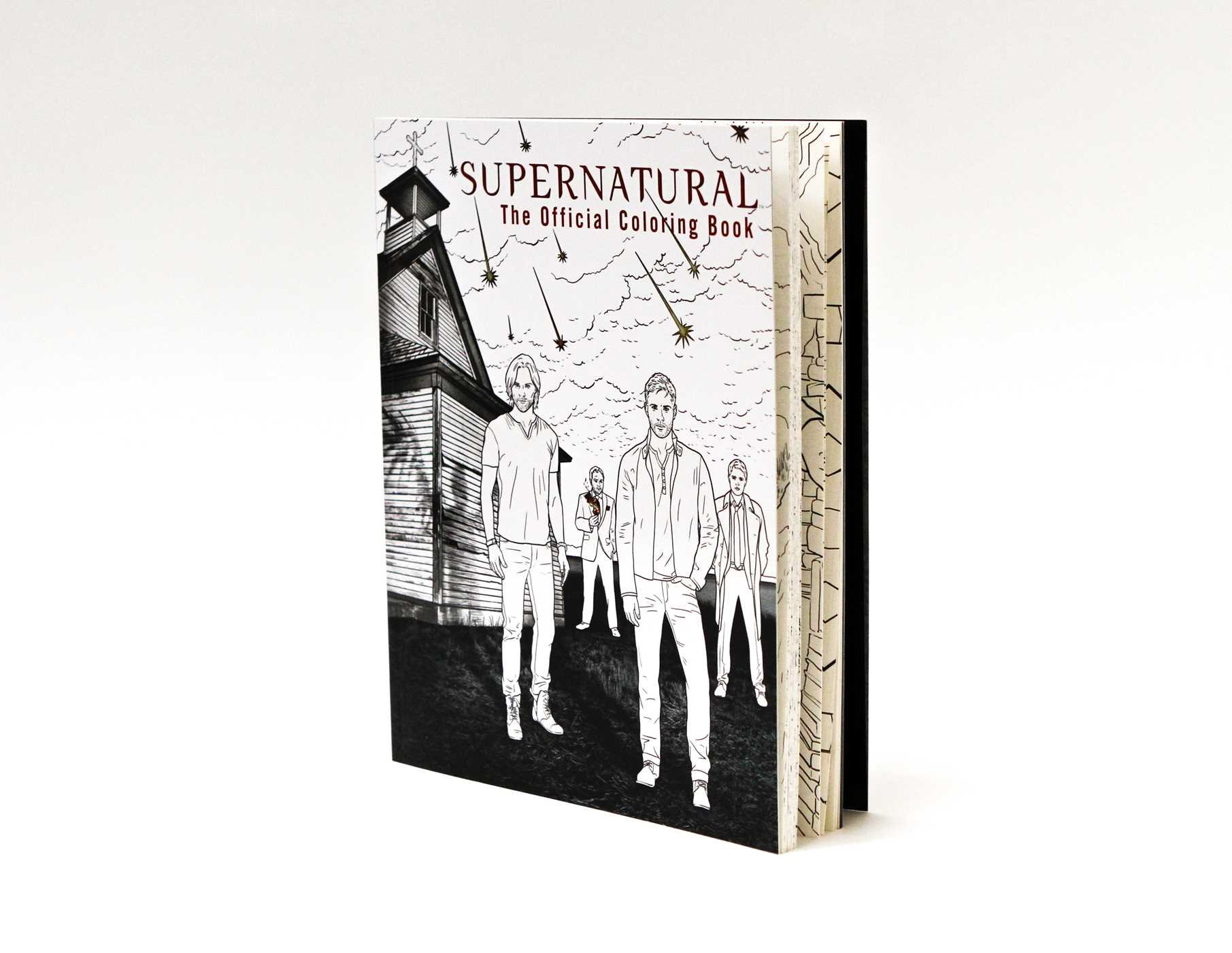 Coloring Pages Daily Activities : Supernatural the official coloring book insight editions