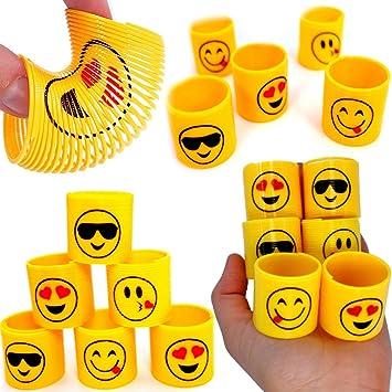 German Trendseller® - 12 x muelles pequeños de smiley ...