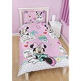 Parure de lit housse de couette réversible Minnie Disney