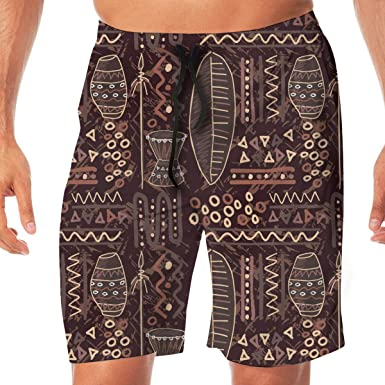 df7f2f70a2 Men's Funny Swim Trunks NO Mesh Lining Quick Dry Summer Surf Beach Board  Shorts | Amazon.com