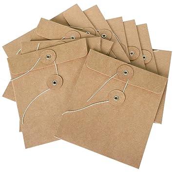 WOVELOT Sobres de Cartón de 10 Paquetes Hechos de Cartulina Marrón También Disponibles Como Bolsas de Cajas de Cd: Amazon.es: Oficina y papelería