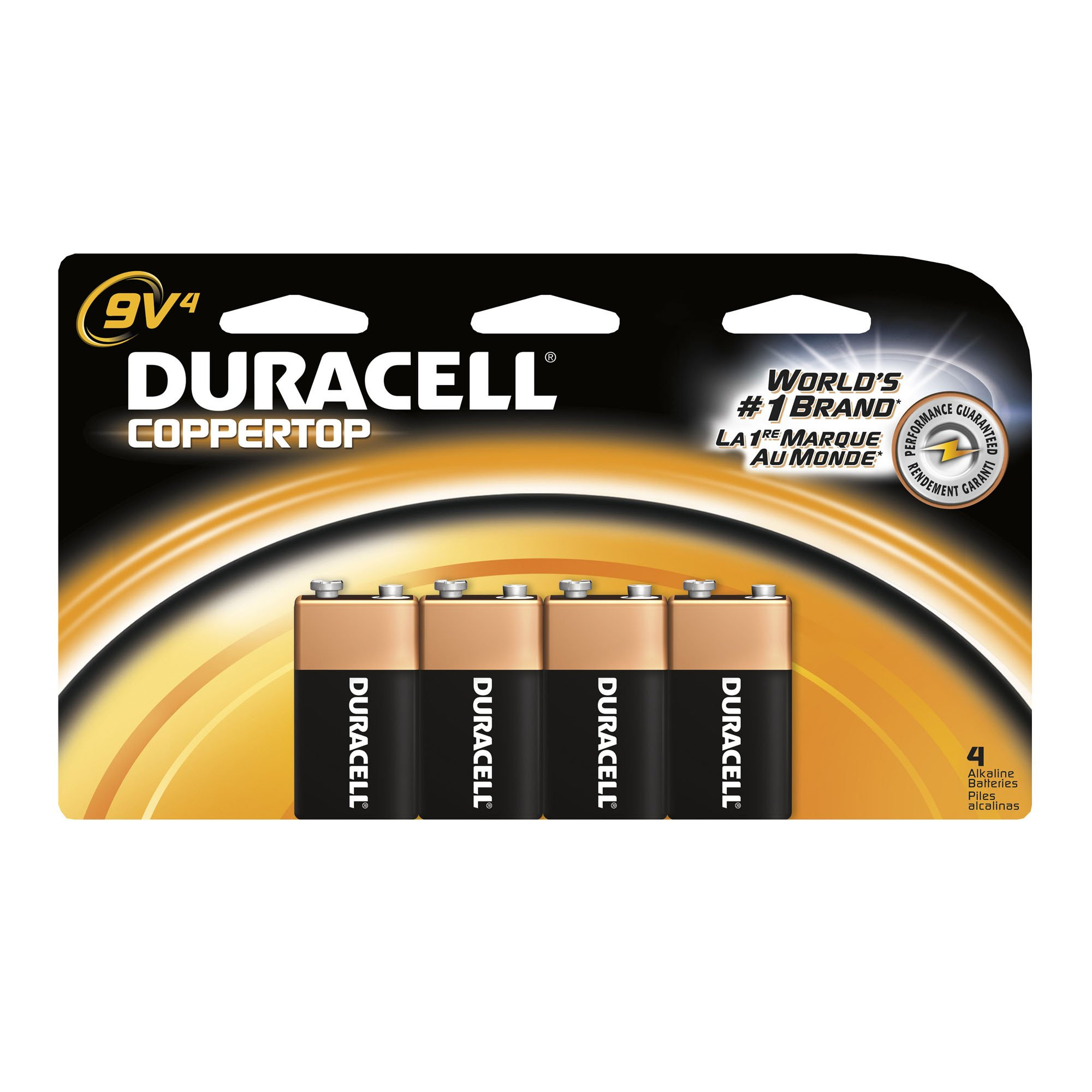 Duracell Coppertop 9-Volt Batteries, 4-Count (Pack of 2) by Duracell