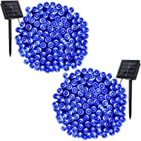 Solar String Lights - Solarmks 72ft Blue Outdoor String Lights,2 Pack 200 LED Seasonal Decorative Lighting for Home, Lawn, Garden, Wedding, Patio, Party and Holiday