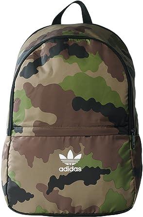 6db5c81338577 adidas Essentials Camouflage Rucksack Green