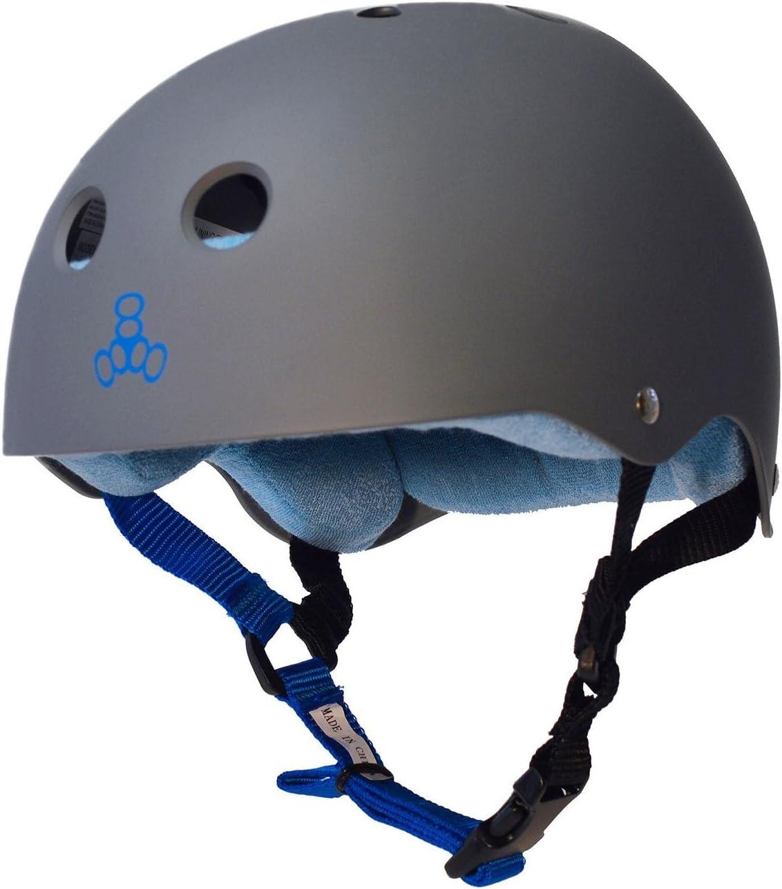 Triple 8 スウェットセーバー ヘルメット カーボン ブルー スモール