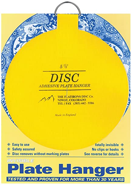 Flatiron Disc Invisible Plate Hanger 5.5-Inch  sc 1 st  Amazon.com & Amazon.com: Flatiron Disc Invisible Plate Hanger 5.5-Inch: Home ...