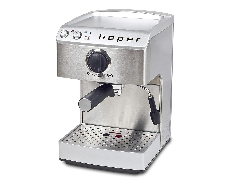 BEPER Cafetera Espresso, Plateado, 32 x 23.2 x 36.5 cm: Amazon.es ...