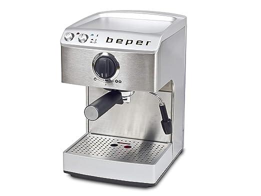 BEPER Cafetera Espresso, Plateado, 32 x 23.2 x 36.5 cm ...