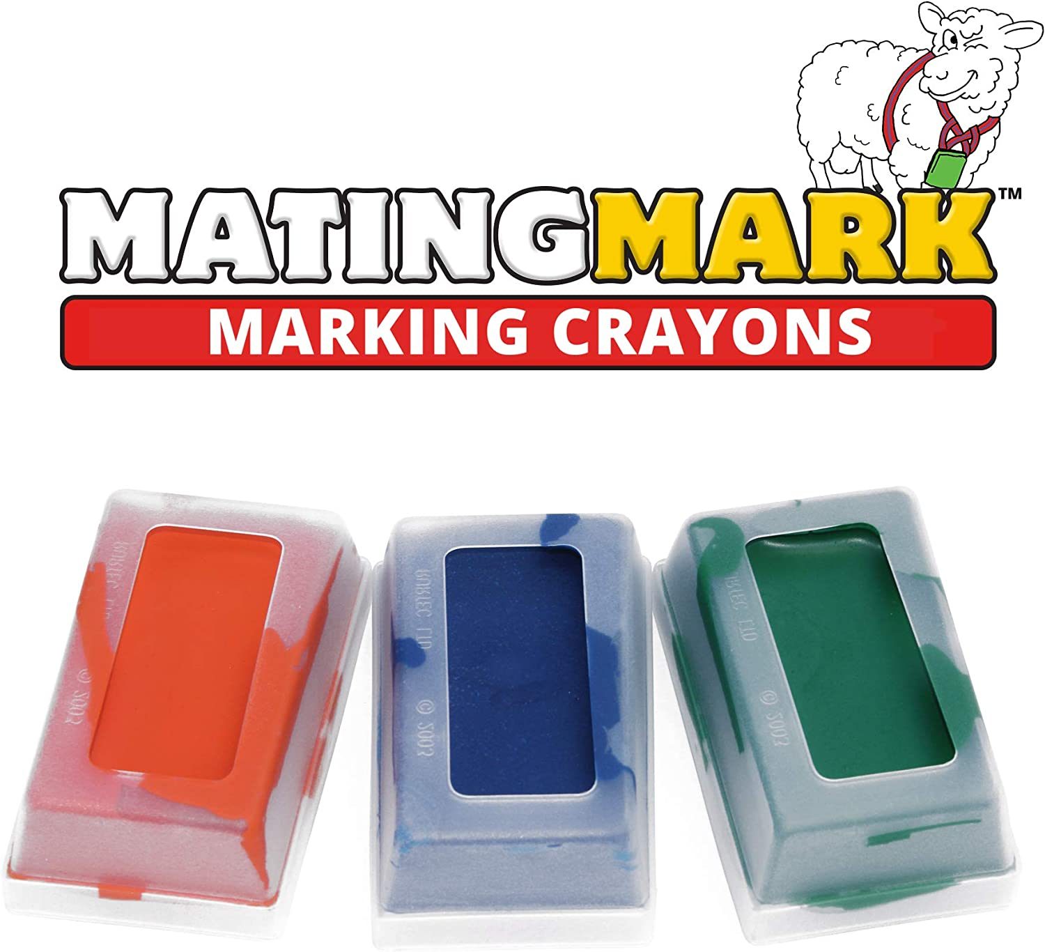 3 Pack Orange MATINGMARK Sheep /& Goat Mating Crayon Block Marker for Ram Breeding//Marking Harness by Rurtec Blue Green MILD Temperature Made in New Zealand