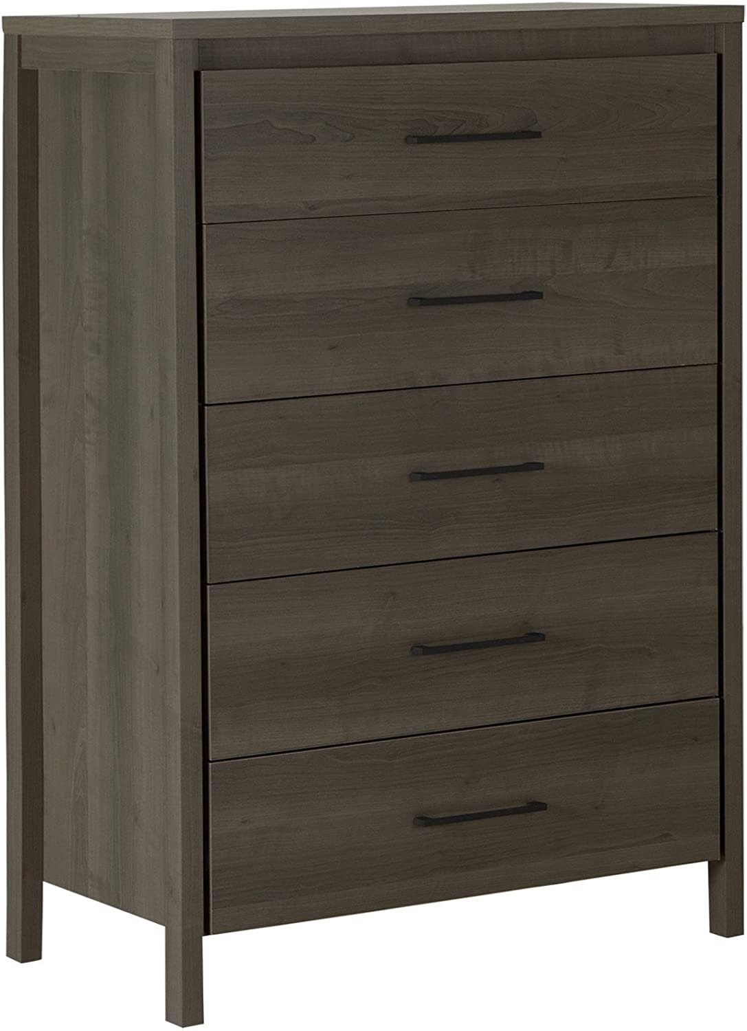 South Shore Furniture Gravity 5 Drawer Chest Gray Maple Amazon
