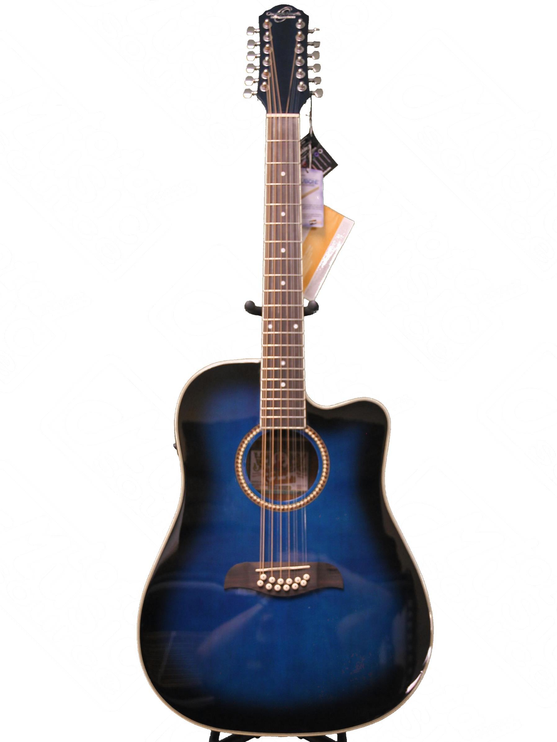 oscar schmidt by washburn 12 string acoustic electric guitar od312cettbl trans blue guitar. Black Bedroom Furniture Sets. Home Design Ideas