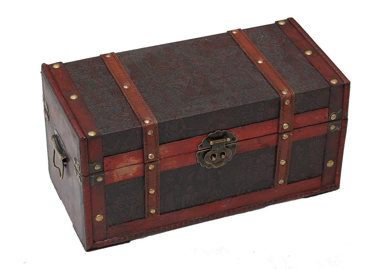 Genérico  Caja de Almacenamiento de Madera con patrón Egipcio para Almacenamiento de Maletero, diseño de Corredor