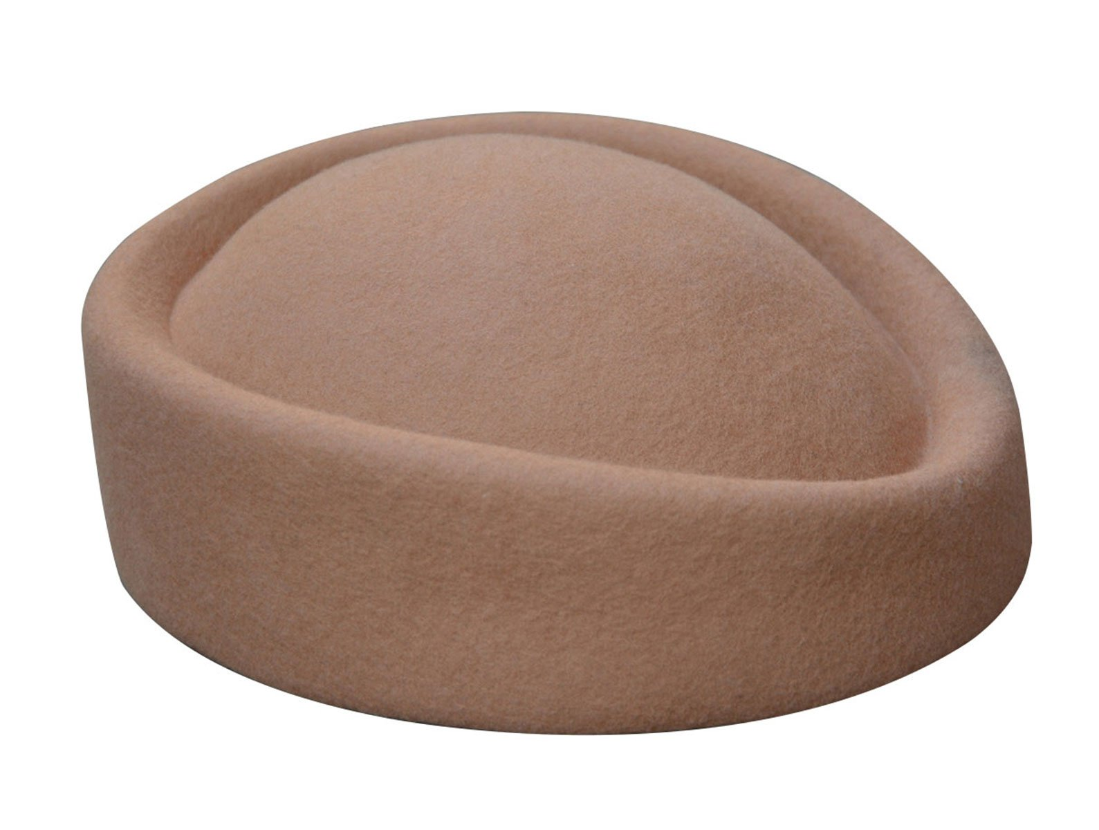 Lawliet Cocktail Fascinator Base Wool Air Hostesses Pillbox Hat Millinery Making A139 (Camel) by Lawliet