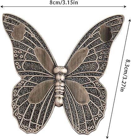 5 pomos para puerta de armario, diseño de mariposas, estilo retro, de aleación de zinc, para muebles, cajones, armarios, armarios, cocina, decoración con tornillos, marrón: Amazon.es: Bricolaje y herramientas