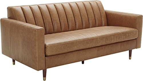 Amazon Brand Rivet Damien Mid-Century Modern Channel-Tufted Apartment Sofa