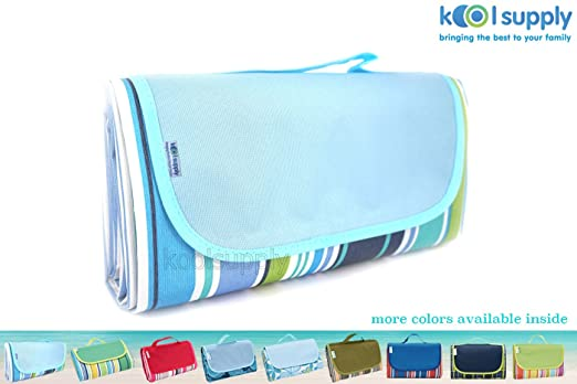 koolsupply Sand Proof Water Proof Beach Blanket Mat, Picnic Blanket, Outdoor Mat, Water Resistant Top with Water and Stain Proof Bottom, Large Mat, Easy to Fold and Clean