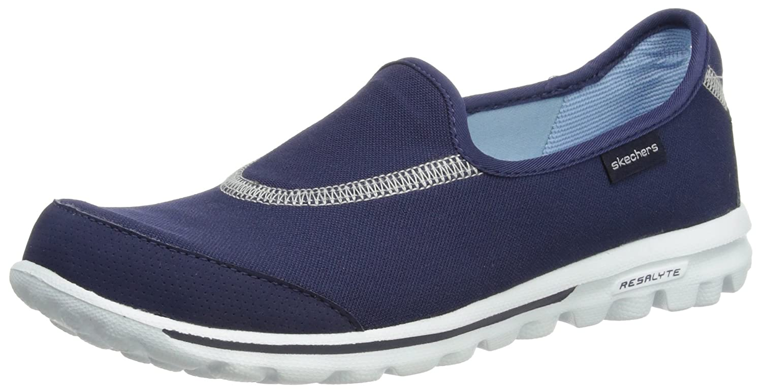 Skechers GO Walk, Damen Slipper, Blau (NVY), 40 EU: Amazon.de ...