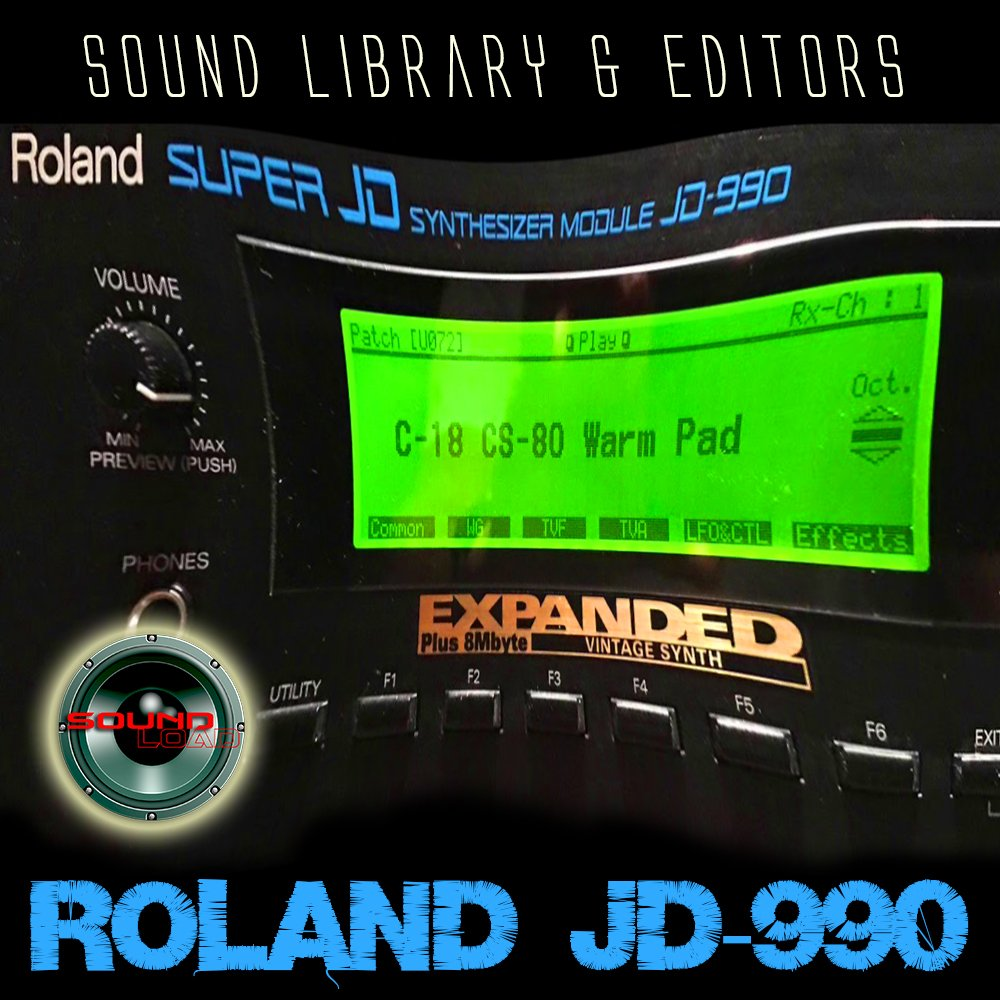 ROLAND JD-990 HUGE Original Factory and NEW Created Sound Library & Editors on CD or download by SoundLoad (Image #1)