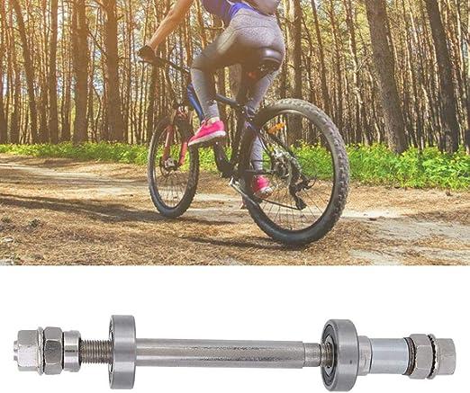 Front /& Rear Axle 6000 Bearing Solid Shaft Bike Repair Tool Accessories Bicycle Wheel Hub Axle,MTB Quick Release Bicycle Hub