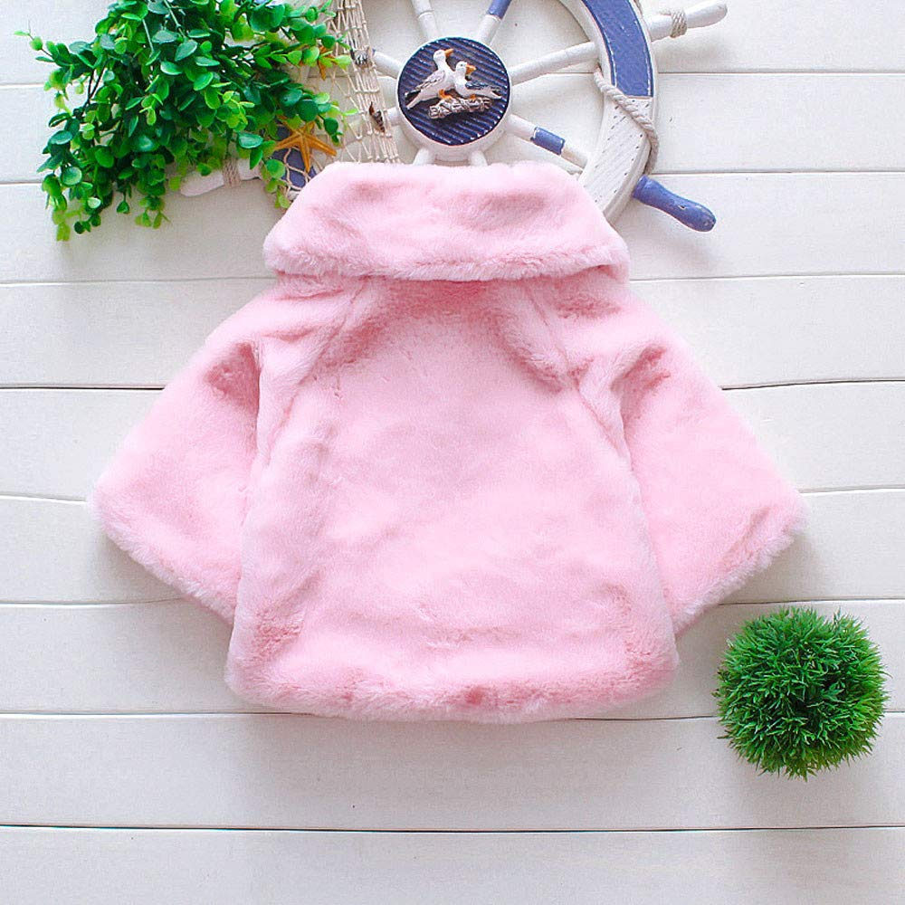 Leegor Baby Toddler Spring Winter Capelet Infant Girls Spring Winter Coat Cloak Jacket Thick Warm Clothes Capes Ponchos