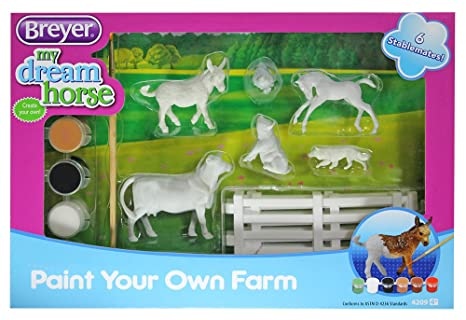 Amazon Com Breyer Stablemates Paint Your Own Farm Craft Activity