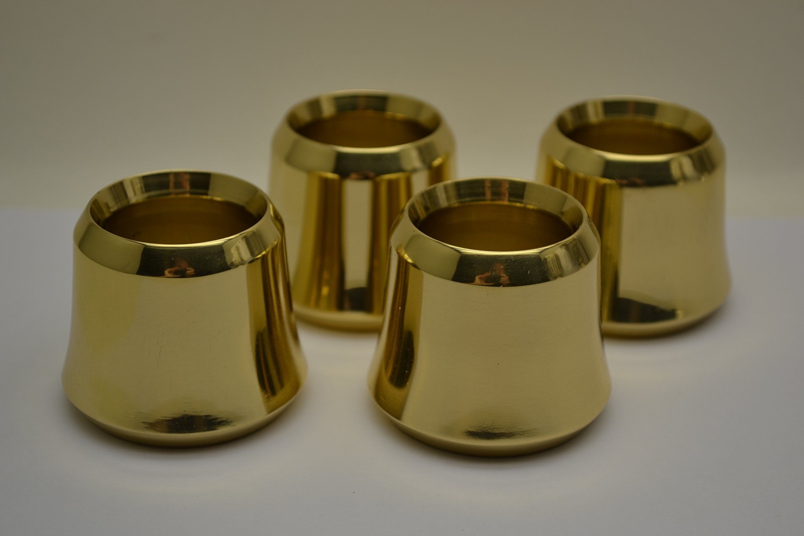 Classical Church Goods Set of 4 Solid Brass Candle Followers 1 1/2'' Size, Burners (Set of 4) by Classical Church Goods (Image #1)