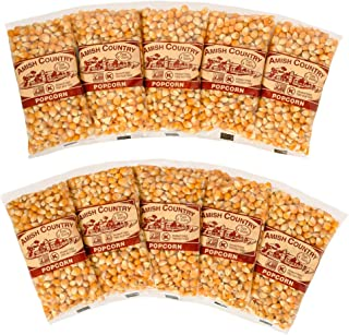 product image for Amish Country Popcorn | 10 (4 Oz Bags) Extra Large Caramel Type Kernels | Old Fashioned with Recipe Guide