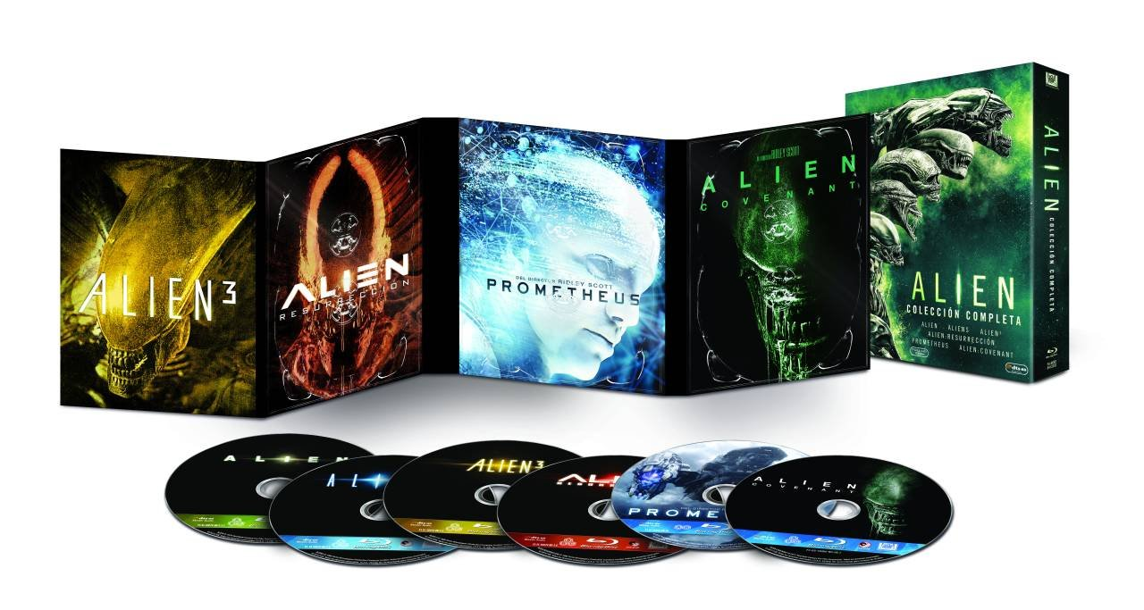Pack Alien 1-6 Blu-Ray [Blu-ray]: Amazon.es: Noomi Rapace, Michael ...