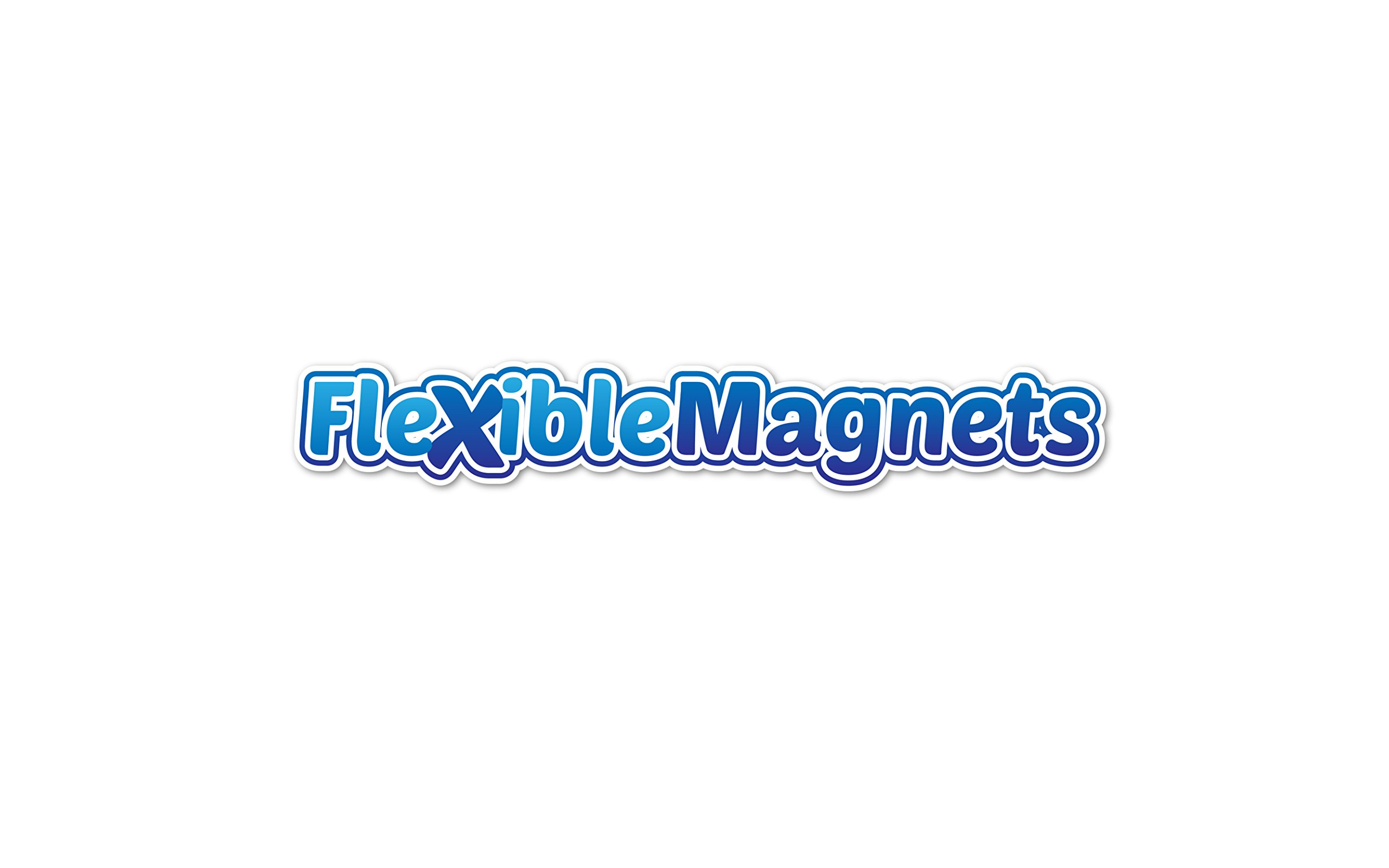 5 Magnetic Sheets of 8'' x 10'' Adhesive 60 mil Magnet Ultra Thick