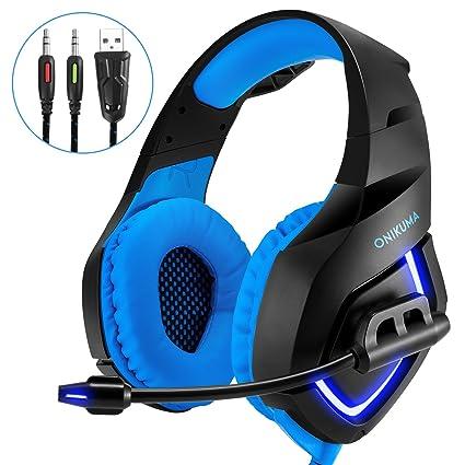 Auricular Gaming micrófono Gamer para PS4, PC, ordenador portátil, Tablet, teléfono con