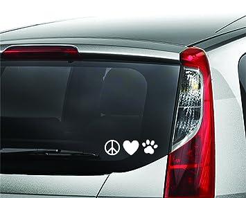3 designs 12 decals total Peace Heart Paw, Heart Beat Paw, Infinity Symbol Pet Paw Enjoy It Pets Car Sticker Kit