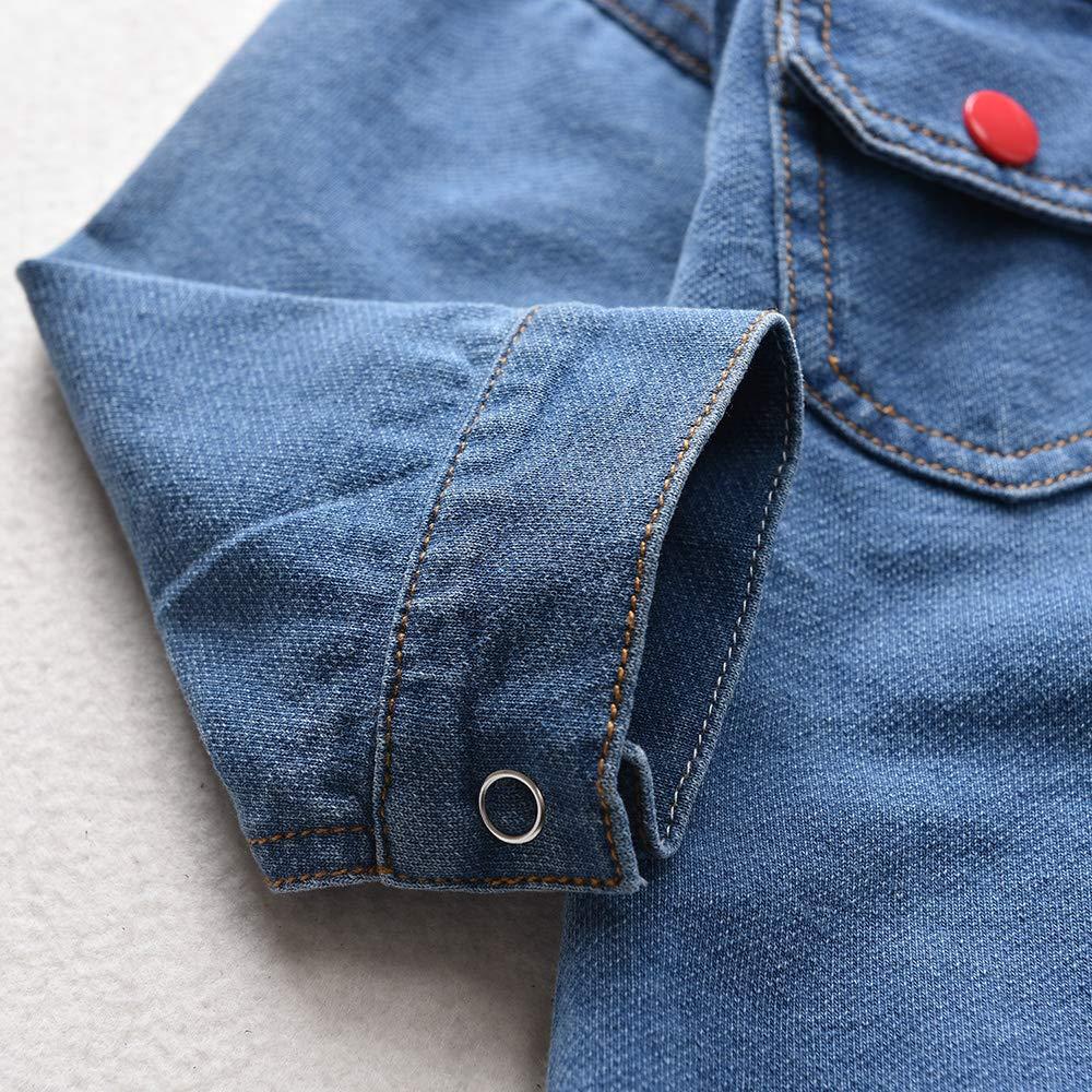 HINTINA Unisex Cowboy-Kleidung f/ür Neugeborene Jungen M/ädchen Jeansanzug