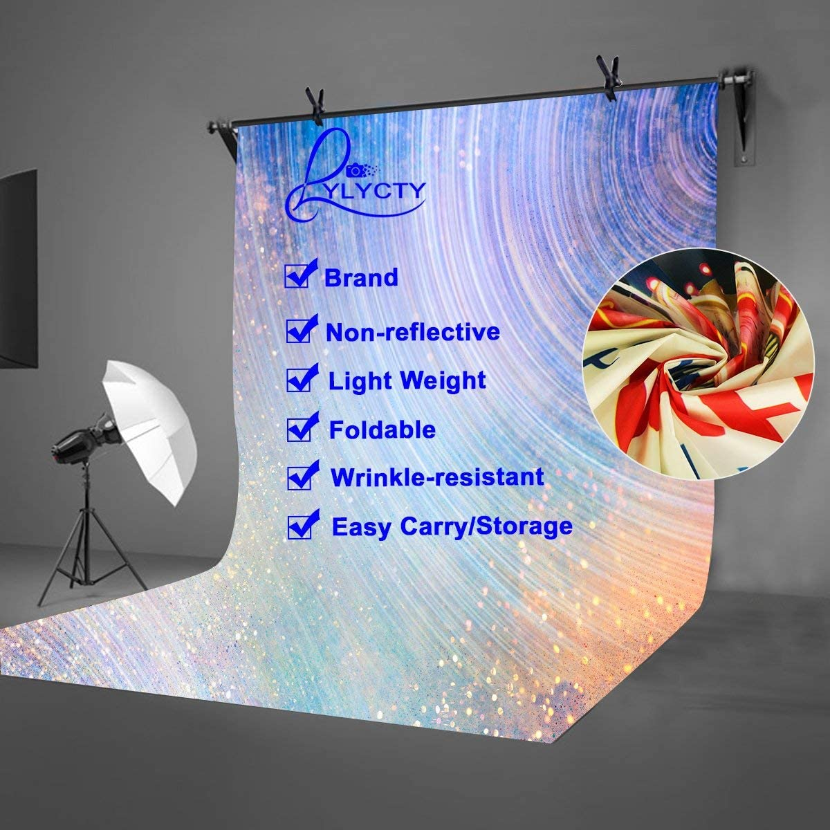 GoHeBe 5x7ft Colorful Abstract Backdrop Colorful Abstract Corrugated Photographic Background and Studio Photography Backdrop Props LYHUI152