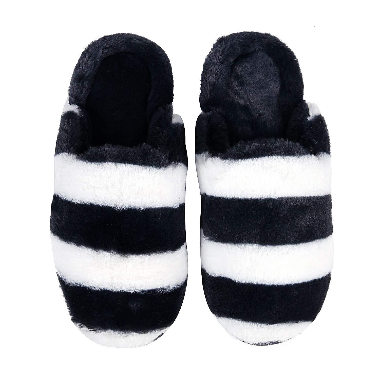 Women Fuzzy House Slippers Memory Foam Fluffy Slippers Waterproof Sole Slip On Indoor//Outdoor Bedroom Soft Slippers Shoes