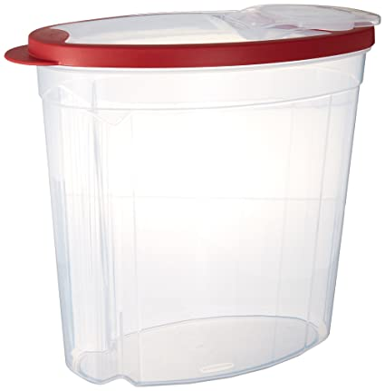Rubbermaid 1.5 gallon Cereal/Snack Storage Container (3 Pack) Red  sc 1 st  Amazon.com & Amazon.com: Rubbermaid 1.5 gallon Cereal/Snack Storage Container (3 ...