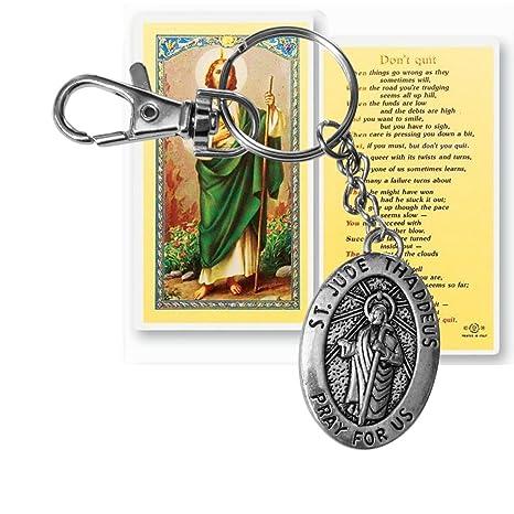 Amazon.com: Saint Jude San Judas Stainless Steel Acero ...