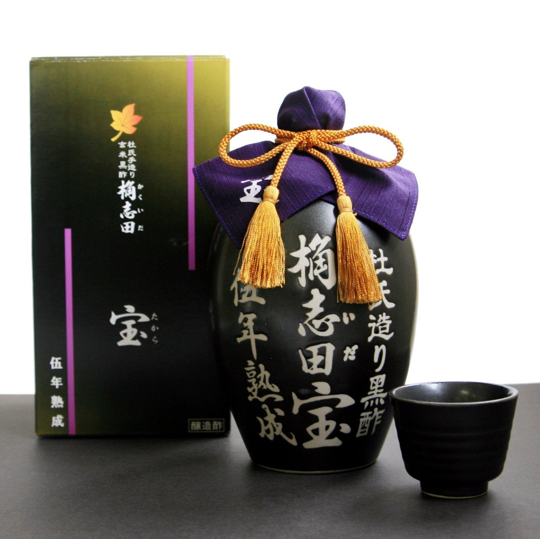 KAKUIDA Premium Organic Brown Rice Black Vinegar Aged 5years 33.8 Fl, Oz (1000 Ml) by Kakuida