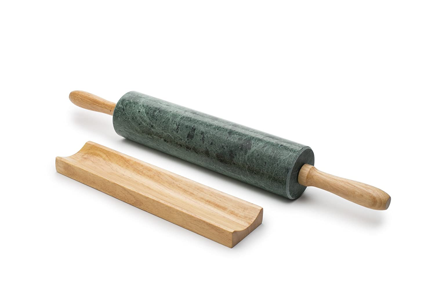 Amazon.com: Fox Run 3842 Marble Rolling Pin and Base, Green: Kitchen ...