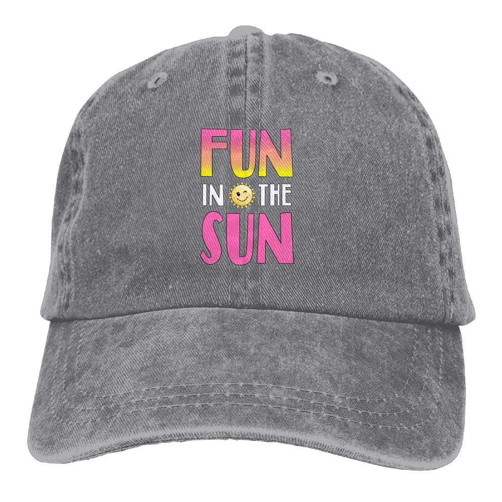 Unique Mens Fun in The Sun Sports Adjustable Structured Baseball Cowboy Hat