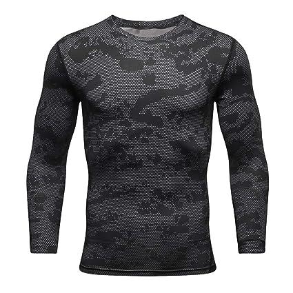 Camiseta de compresion Camisa de compresión de manga larga ...