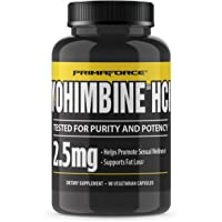 PrimaForce Yohimbine HCl, 90 Count 2.5mg Capsules - Weight Loss Supplement – Supports Fat Loss, Boosts Metabolism
