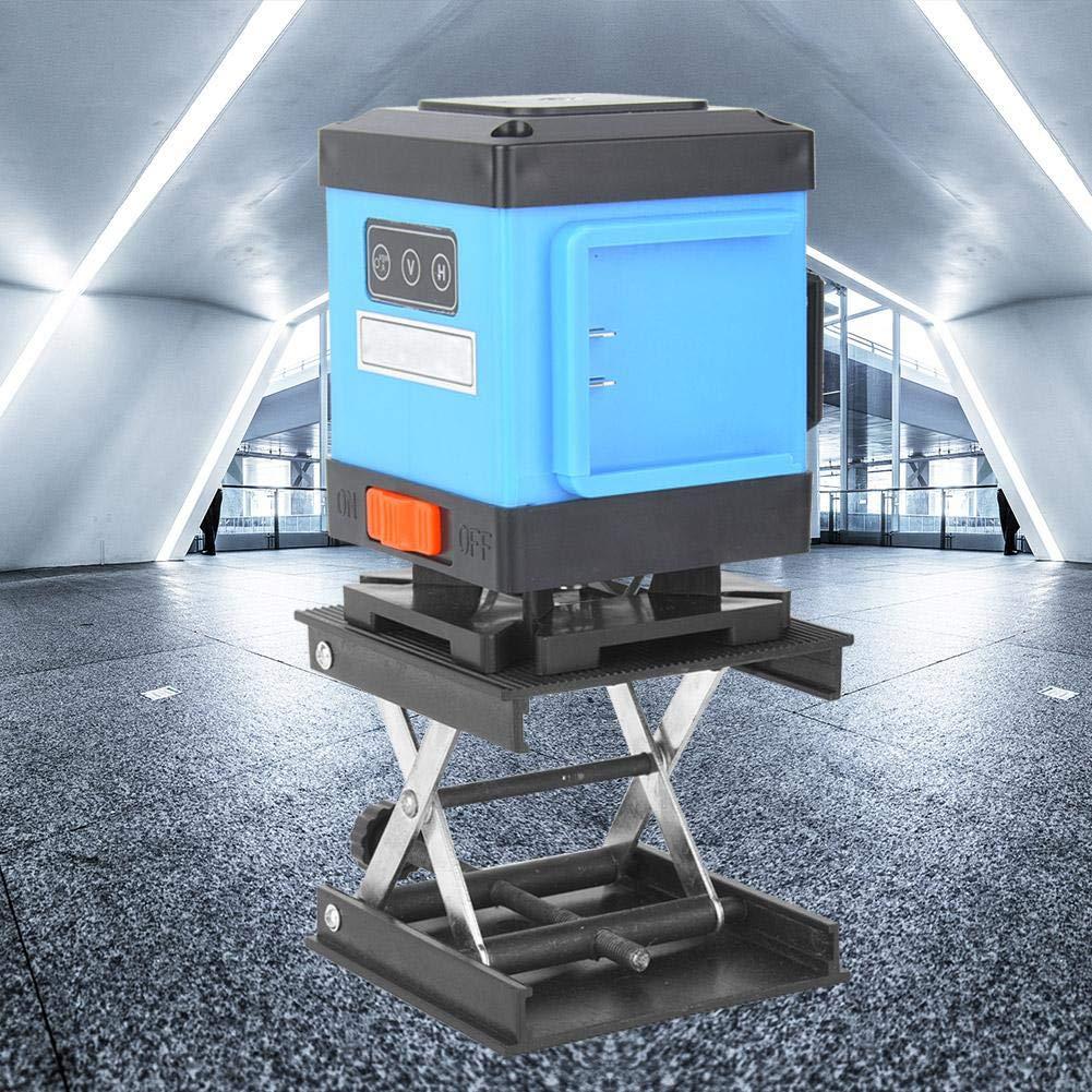 Kunststoffplatte und Metallhalterung Hebeplattform St/ändergestell f/ür Wasserwaage//Labor 90 x 90 mm F/ür Laborpr/üfger/äte Laborhebeb/ühne