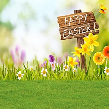 Amazon Com Ofila Happy Easter Backdrop 10x10ft Springtime