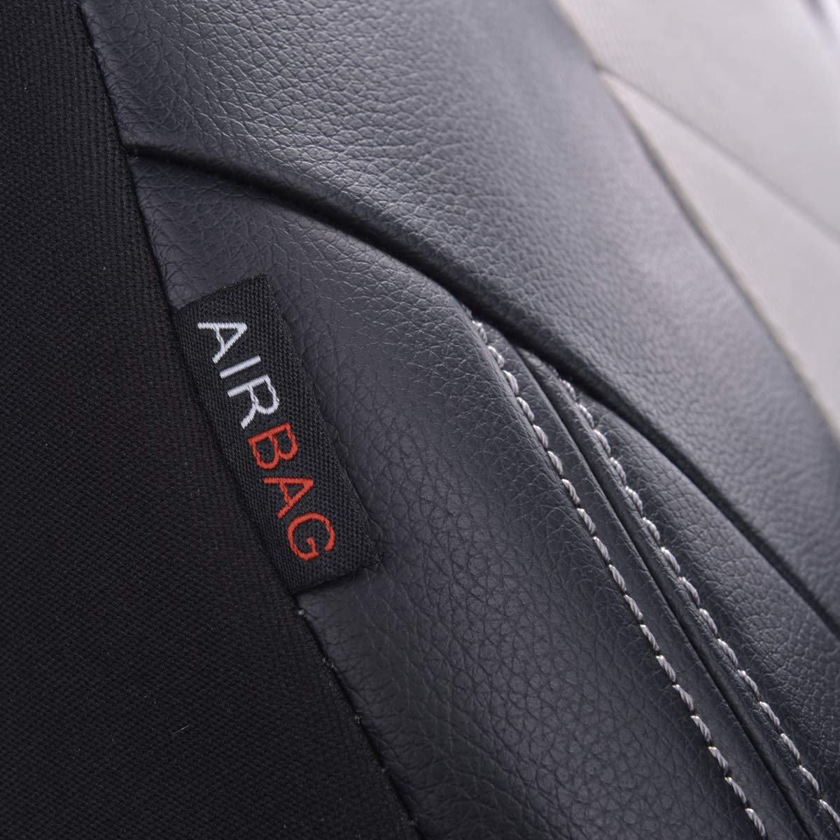 Airbag compatiable,Black with Black LJ Car Pass AIR FRESH Universal Seat Covers Set NEW ARRIVAL
