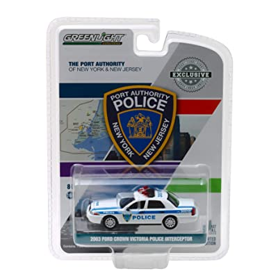 Greenlight 2003 Ford Crown Victoria Police Interceptor Port Authority of New York & New Jersey Police \Hobby Exclusive\ 1/64 Diecast Model Car: Toys & Games