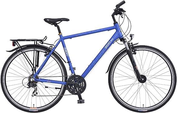 Greens Dundee 28 Pulgadas Bicicleta de Trekking Hombre Cross Dinamo de buje de 21 velocidades Azul, tamaño 56: Amazon.es: Deportes y aire libre