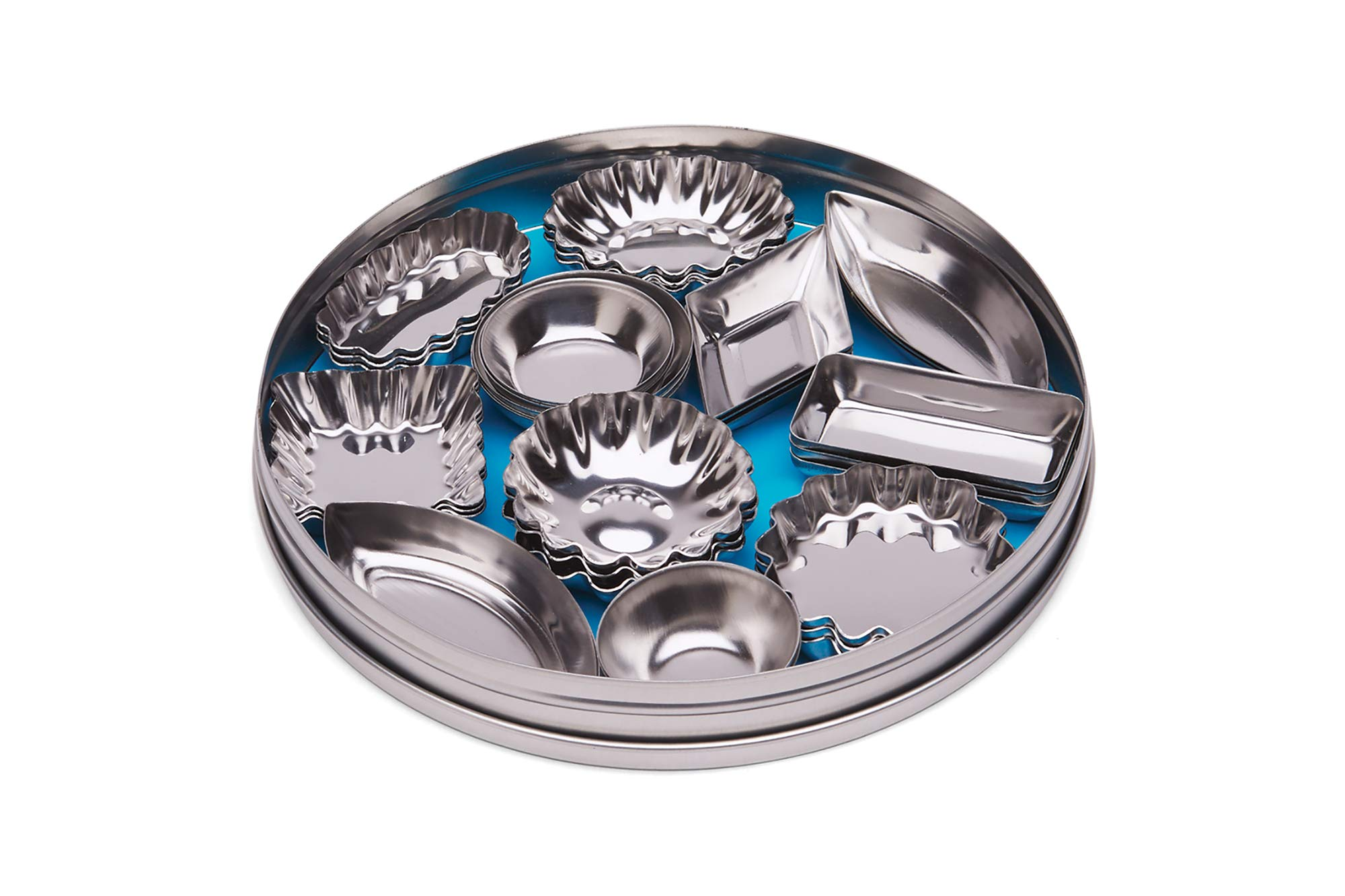 Fox Run 3620 Mini Tartlet Set, Tin Plated Steel, 36-Piece by Fox Run