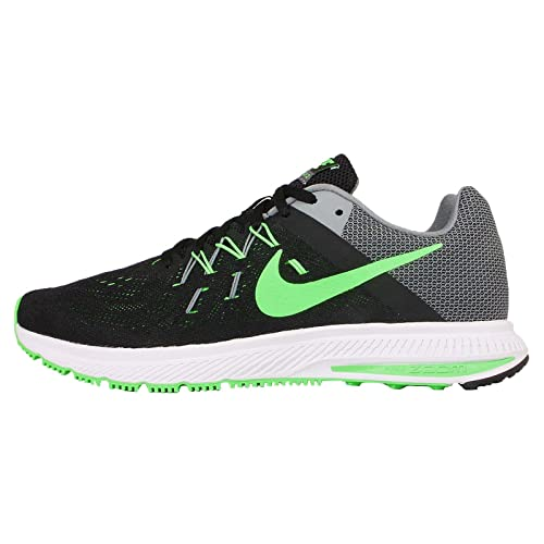 sale retailer 3bbec 63215 ... discount code for nike zoom winflo 2 mens black green strike cool grey  white running sneakers