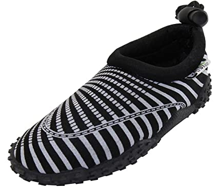 Womens Aqua Wave Water Shoes (5 Black/White)